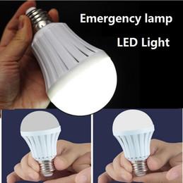 Wholesale Automatic Street Lights - LED lights emergency lamp smt 5730 5W Manual Automatic control 180 degree light Street vendors use working 3-5 hours E27 led bulbs