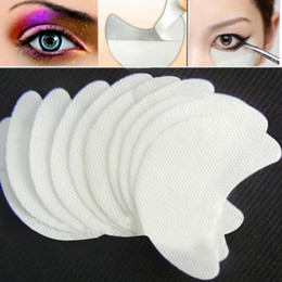 shadow shields Promo Codes - Wholesale Free shipping 100pair lot disposable eyeshadow shields pad for perfect eye makeup application beauty eye Shadow Shields