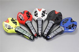 Wholesale Black Yellow Saddle - 2017 New Italy Super leather prologo CPC road bike saddle black white red yellow blue cycling bicycle cushion seat free shipping