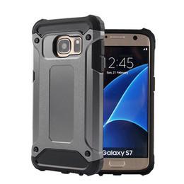 2019 чехлы для мобильных телефонов s6 edge 300 ШТ. Для Samsung Galaxy S5 S6 Edge S7 Edge S8 S9 Plus Note 4 5 8 9 Стальная броня ТПУ ПК Мобильный телефон Защитные чехлы дешево чехлы для мобильных телефонов s6 edge