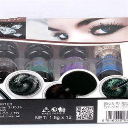 Wholesale 12 Color Gel - Gel Eyeliner Eye Makeup Brand Eye Liner Cream 12pcs 12 Colors Eye Shadow Longlasting Waterproof Eyeliner M2022
