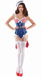 Wholesale Fun Sexy Costumes - women Navy sailor suits sexy games uniforms temptation DS costumes Cosplay Party Fun uniforms