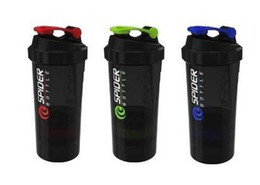 Wholesale Ps Sales - Wholesale- Hot sales! 2015 New Spider protein shaker 3 in 1 Sports water bottle with inserted mixing ball 3 Color RED BLUE GREEN 600ml