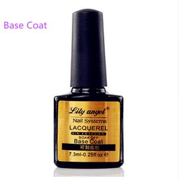 Wholesale New Nail Lacquer - Wholesale-Lily angel New Arrival Lacquer Nail Base Coat 7.3ML Long lasting Soak Off UV LED GEL Base Coat Manicure Nail Gel Z