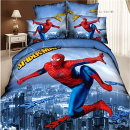 Wholesale Children Bedding Sets Wholesale - Foreign trade cotton bedding set of four spider man Superman Captain America fitted four piece type