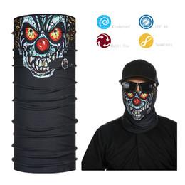 fumo fumo all'ingrosso Sconti All'ingrosso-Tube Smoking Skull Face Mask Bandana traspirante
