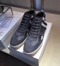 Wholesale Designer Leisure Shoes - 2017 The new leisure High quality luxuries designer Fashion men lace up grid cuasual shoes size 39-45
