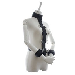 Wholesale Sex Toys Hand Cuffs - Sex Slave Collar with Handcuffs, Fetish Bondage Restraints, Multi Positions Erotic Toys Ankle Hand Cuffs, Sex Products, Sex Toys