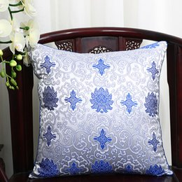 Wholesale Handcraft Homes - Multi size Silk Brocade Cushion Pillow Cover for Sofa Seat Chair Car Home Office Decoration Handcraft Pillowcase 16inch 18inch 20inch 24inch
