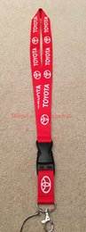 Wholesale Brands Badge Holder - lot 30 pcs Toyota Cars brand logo Buckle Strap Style Neck Lanyard For ID Card Mobile Badge Holder & Accessories