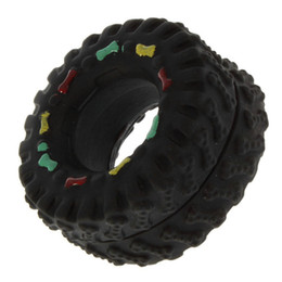 Wholesale Tire Chew Toy - Animal Sounds Tire Balls Dog Toys Pet Dog Animal Chews Squeaky Sound Rubber Tire Shape Dog Toy