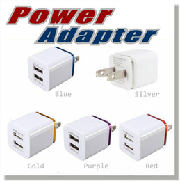 Wholesale Home General - Home travel dual port Wall Charger dual usb port Power Adapter metal Mushroom US EU Plug Charging general For smartphone plus mp4 OM-PL1