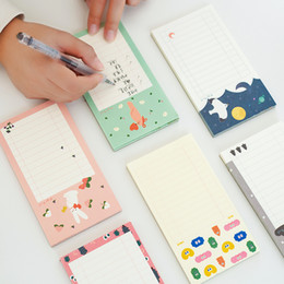 Wholesale Decorative Listing - Wholesale- Cute Kawaii Forest Check List Adhesive Memo Pads Sticky Notes DIY Decorative Stickers Kids Stationery School Office Supply