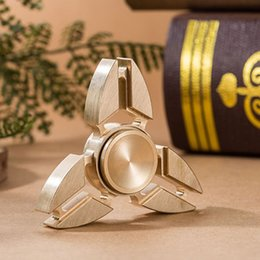 Wholesale Triangle Skateboard - Brass Tri Fidget Spinner EDC Brass Hand Spinner Triangle Desk Focus Toy For Killing Time For Kids Adults DHL OTH373