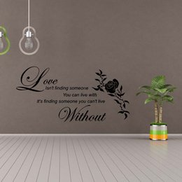 2017 decoracion de decoracion Love Without Flower Wall Quotes Etiquetas Decorativas De Vinilo Decorativas Decoración Diy decoracion de decoracion oferta