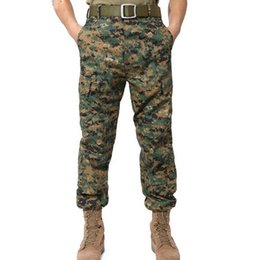 Wholesale Military Cargo Men Pant - 2018 Tactical Cargo Pants Men Camo Combat SWAT Army Military Pants Cotton Pockets Stretch Paintball Militar Casual Trousers S-2XL R106
