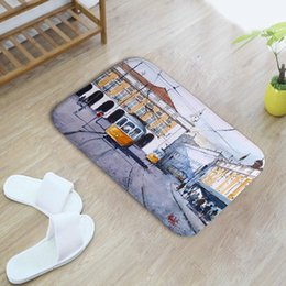 cartoon ben Australia - Printed Mat Eiffel Tower 3D Doormat Outdoor Anti-slip Hallway Carpet Polyester Big Ben Floor Mat For Bathroom Kitchen Entrance Rug