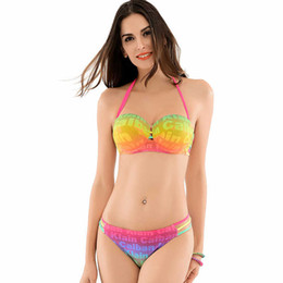 Wholesale Swimwear Steel Bikini - Europe and the United States women's bikini fission sexy swimwear swimsuit show thin steel bracket