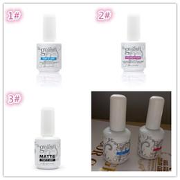 Wholesale Nail Base Coats - Top quality Harmony gelish polish LED UV nail art gel TOP it off and Foundation frence nails Top coat Base coat set X003