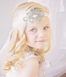Wholesale Cheap Crystal Headbands - 2016 Crystals Flower Girl Baby Hair Accessories Cheap Wedding Little Girl Headbands 40 CM Wedding Jewelries 06