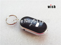 Wholesale Sound Control Locator Key - Wholesale-New 4PCs LED Key Finder Locator Find Lost Keys Chain Keychain Whistle Sound Control