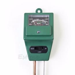 Wholesale Garden Plants Soil - Wholesale- 3 in 1 PH Tester Soil Water Moisture Light Test Meter for Garden Plant Flower