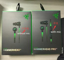 Wholesale Best Microphone Headset - Razer Hammerhead Pro V2 In-Ear Earphone & Headphone With Microphone+Retail Box Gaming Headset best quality Noise Isolation 3.5mm