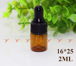 Wholesale Cheapest Perfume Wholesaler - Wholesale Cheapest Price 1000pcs 2ml Amber Glass Essential Oil Bottle Perfume Sample Tubes With Dropper Caps Glass Dripper Brown Mini Bottle