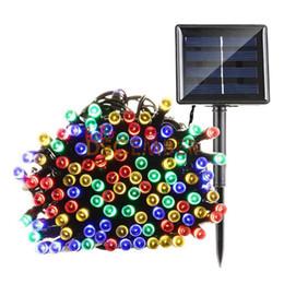 2019 мини-светодиодные фонари с подсветкой 8-режимные светодиодные солнечные световые струны 10M 20M 30M 40M 50M RGB / синий / красный / зеленый / розовый / фиолетовый / теплый / прохладный наружные водонепроницаемые светодиодные нити