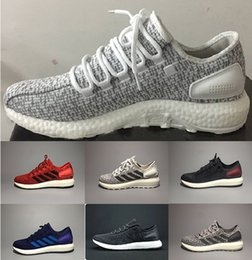Wholesale High quality Pure Boost Sports Shoes Men Women Pureboost Running Shoes Pure Boost Trainer sports Sneaker shoes Size cheap online