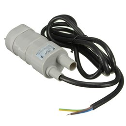 Wholesale Micro Aquarium Pump 12v - 12V DC 1.2A 5M 10L Min 600L H 6-15V For solar Aquarium Three Core Micro Submersible Motor Water Pump Best Price