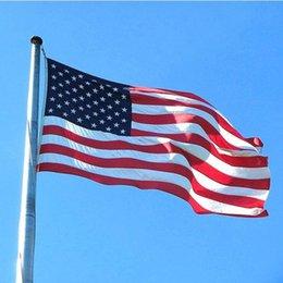 confeti de plata al por mayor Rebajas DHL 90x150cm Bandera americana Poliéster Bandera de EE. UU. Bandera de EE.UU. Banderines nacionales Bandera de Estados Unidos 3x5 pies
