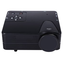 Wholesale Vga Lcd Panel - Wholesale-TOPS H80 640*480 Pixels Full HD 1080P Mini LED Projector Home Theater Single TFT-LCD Panel Display Support AV USB VGA HDMI