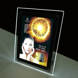 Wholesale Wholesale Poster Light Box - 50*70cm Store Counter Poster Light Box Display Featuring Free Standing on Table Supported by Steel Bolts and Firm Wooden Case Packing