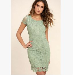 Wholesale summer party dresses design casual - Christmas Party Lace Dress Women Summer Flower Formal Bodycon Dresses Backless Design Clothing