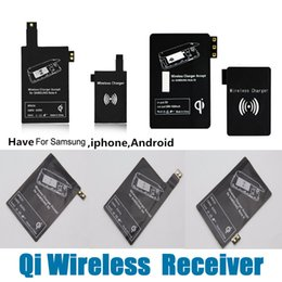 Wholesale Wireless Qi Charger Receiver S3 - Qi Wireless Charger Receiver Universal Wireless Adapter for iphone 6 6splus 5S 7 7plus Samsung S3 S4 S5 NOTE2 NOTE3 NOTE4 All Android HTC LG