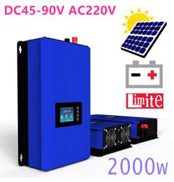 Wholesale Solar Power Grid Tied - 2000W Battery Discharge Power Mode MPPT Solar Grid Tie Inverter with Limiter Sensor DC 45-90V AC 220V 230V 240V PV connected