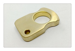 Wholesale Pure Stones - Pure Brass EDC Handemade Tiger Finger   Punch   Knuckle Duster 57mm*36mm*10mm Stone Wash Surface Treatment 115g pcs