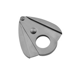 Wholesale Lock Catch - free shipping tobacco high quality lock catch metal cigar cutter Scissors Stainless Steel Sharp Blades Latch Closed silver Cigar knife shear