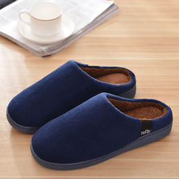 Wholesale Red Winter Indoor Slippers - Wholesale-Fashion Warm Plush Home Slippers Women Men indoor Slippers Winter Shoes