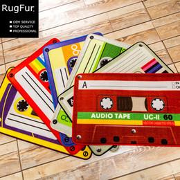 Wholesale Outdoor Floor Mats - 40*60cm 50*80cm Retro Nostalgia Tape Colorful Mats Anti-slip Carpet Floor Mat Outdoor Rugs tape front door retro home entrance doormat