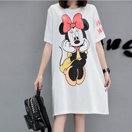 Wholesale Thin T Shirt Dress - New Summer Dress Plus Size Women loose thin Cartoon Printing Casual short-sleeve Shift T-shirt Dress female Vestidos XL-5XL