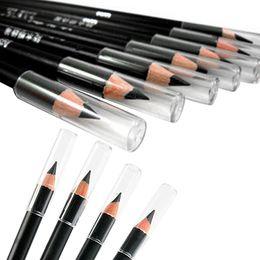 Wholesale Top Waterproof Eyebrow Pencil - Wholesale- 2016 Top Quality HotTop-sale 2Pcs Black Smooth Waterproof Eyebrow Pencil Cosmetic Makeup Beauty Tool 7D3M 8AZ5