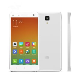 Wholesale Xiaomi Android Qwerty - Original Xiaomi Mi4 Mi 4 4G LTE Mobile Phone Snapdragon 801 Quad Core 2GB 3GB RAM 16GB ROM Android 4.4 5.0inch FHD 13.0MP OTG Cell Phone
