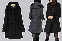 Wholesale Skirted Trench - Casaco Feminino Winter Coat Female Coats Casacos Trench Coat Jacket 5XL 6XL Sobretudo Preto For Womenn Cashmere Woolen Jacket