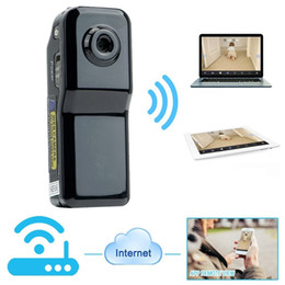 Wholesale Pc Security Dvr - Mini DV Wifi Camera Portable Hidden Camera Video Recorder Security DVR for Iphone Android ipad PC Remote View Spy Video Camera MD81S