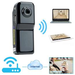 Grabadora de video pc online-Mini DV Wifi Cámara Cámara portátil Video Recorder Seguridad DVR para Iphone Android ipad PC Vista remota Super Video Camera MD81S