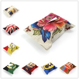 Wholesale Wholesale Tissue Paper Cheap - Wholesale- Sales Promotion Cheap Linen Tissue Box Covers Covers Facial Tissue Case Tissue Paper Box