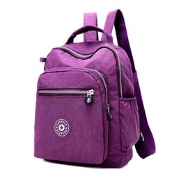 Wholesale Korean Back Packs - Wholesale- New Casual Women Backpack Female Backpacks Waterproof Nylon Women's Backpack for Printing Canvas Backpack Women Bag Back Pack