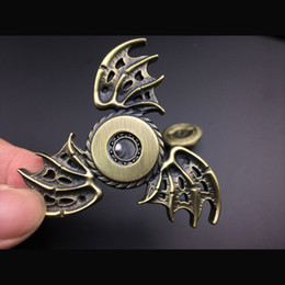 Wholesale Hot Wings Toys - DHL Dragon Wings Design Hand Fidget Spinner Toys Pcc Team Metal Spiral Fidget Spinner For Autism And ADHD Top Hot Toys
